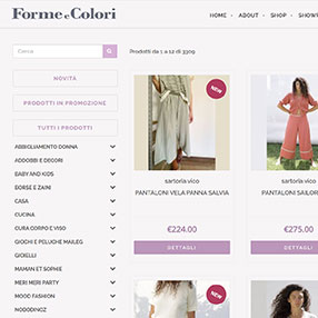 FORME e COLORI - e-commerce